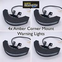 4 X LED CORNER Lights12/24V LightBar Recovery Strobe AMBER Bracket R10 VDC704