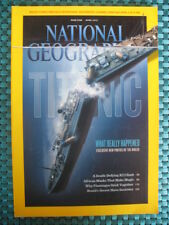 National Geographic Magazine April 2012 THE TITANIC w/ Poster African Masks K2