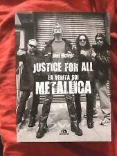 METALLICA JUSTICE FOR ALL Joei McIver ARCANA book libro Heavy Metal Italian
