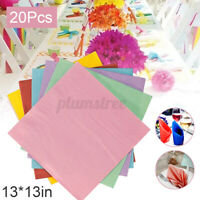20Pcs Paper Napkins Serviettes Bar Party Tableware Plain Solid Colour Catering