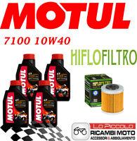 KTM Enduro R 4T 690 2012 2018 KIT TAGLIANDO 4 LT MOTUL 7100 10W40 + FILTRO OLIO