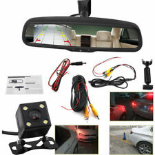 """Car Rearview Mirror 4.3"""" LCD Auto Dimming Monitor Rear View Camera With Bracket"""