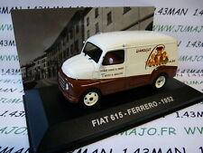 1/43 IXO Altaya Véhicules d'époque ITALIE : FIAT 615 FERRERO 1952