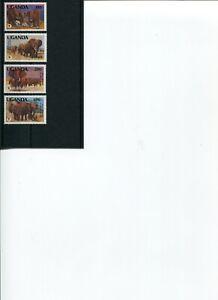 1991 WWF UGANDA African Elephant 4V set MNH POST-FREE