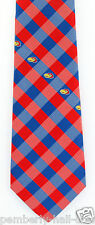 Kansas Jayhawks Checks Mens Necktie University College Logo Alumni Gift Tie New