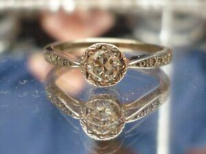 Stunning 18ct white gold & platinum 0.36ct solitaire diamond ring Free sizing