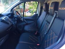 VW CRAFTER SEAT COVERS 2+1 FULL ECO LEATHER + CUSTOM LOGO BESPOKE SEATS
