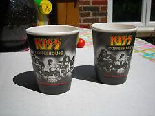 KISS set of (2) KISS Coffeehouse styrofoam cups, unused