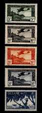 French Polynesia Oceania - Scott C1A-C1E 1944 Vichy Government Airmails - Mnh