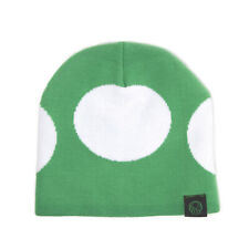 Official Super Mario Green 1-UP Mushroom Beanie Hat New