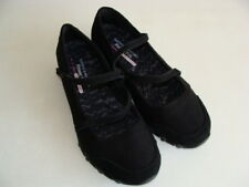 SKECHERS RELAXED FIT MEMORY FOAM BLACK MARY JANE STYLE FLAT SHOES  SIZE 10 - EUC
