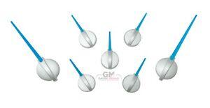 Speedometer Gauge Cluster Needle Set GM 03-06 7pc Satin Hub Blue Pointer Custom