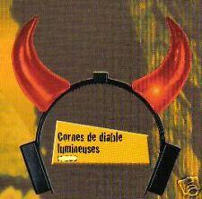 Cornes Diable a piles LUMINEUSE CLIGNOTANTE deguisement DIABLE DIABLESSE LG