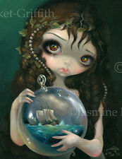 Microcosm Seascape Jasmine Becket-Griffith CANVAS PRINT big eye pop surreal art