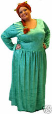 OGRE/PRINCESS FIONA WITH EARS FANCY DRESS COSTUME ALL PLUS SIZES
