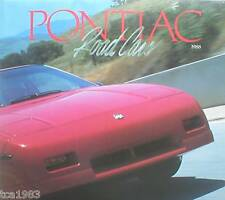 1988 PONTIAC Brochure / Poster :TRANS AM,GTA,GRAND PRIX,GRAND AM,FIERO