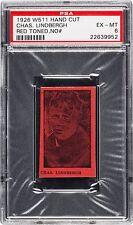 1926 W511 Charles Lindbergh Hand Cut Strip Card Red PSA 6 Pop 1 NONE HIGHER
