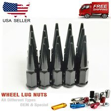 "24PC 1/2x20 BLACK 4.5""SPIKE LUG NUTS FITS DODGE/CHEVY BLAZER JIMMY SUBURBAN C10+"