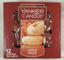 Yankee Candle APPLE SPICE Box of 12 Scented Tealights Tea Light Red