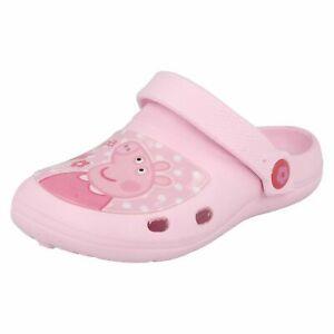 GIRLS KIDS  PEPPA PIG PINK SLIP ON CLOGS SIZE 6