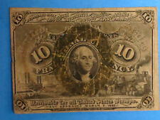 March 3, 1863  ~ U.S. Fractional Currency ~  10 Cents
