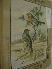 Margot Rouge Gorges (Red Throated) Birds Needlepoint Canvas#2122- 21.5x29.5cm (8
