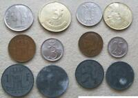 BELGIUM lot 6 coins, nice grade 1942 - 1980
