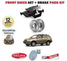 FOR LEXUS RX300 3.0 MCU15 2000-2003 NEW FRONT BRAKE DISCS & DISC PADS KIT