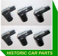 6 CHAMPION Spark Plug CAPS PER ROVER 105 P4 2.6lt 6cyl 1956-59