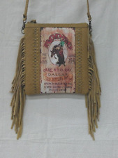 Montana West western rodeo Cross Body Fringe bag purse Texas Cowgirl Leather