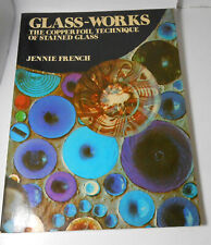 Vtg Glass Works Copper Foil Technique of Stained Glass Craft Pattern Book
