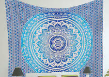 Ombre Blue Twin Mandala Indian Wall Tapestry Home Dorm Bohemian Tapestry Throw