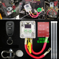 12V Car SUV Battery Disconnect Cut Off Isolator Master Switch Remote Control Kit