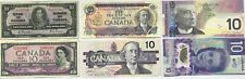 BANK OF CANADA $10 BANK NOTE COLLECTION ~ LOT OF 6 ~ VF+ and better condition