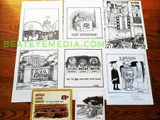 RON COBB-ART PRINT-CARTOON-UNDERGROUND COMICS-HIPPY-COMIC ART-BLACK PANTHERS-FBI