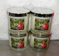 Bath & Body Works AROMATHERAPY HOME JOY Candles x4 ~ Cinnamon,Orange,Berry VHTF!