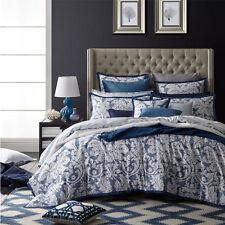 FLORENCE BROADHURST Florence Indigo King Size Bed Doona Duvet Quilt Cover set
