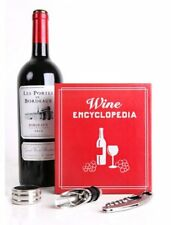 Kikkerland SMALL BOOK WINE KIT 3pc Gift Set Corkscrew DRIP CATCHER Pourer