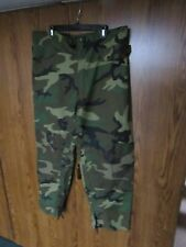 US ARMY WOODLAND CAMO SIZE SMALL RAIN PANTS TROUSERS USAF