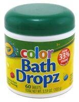 (3 Pack) CRAYOLA COLOR BATH DROPZ 60 TABLETS 3.59 Ounce JAR