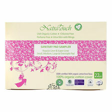 Natratouch Organic Cotton Sanitary Pads and Panty Liners - Sampler Pack