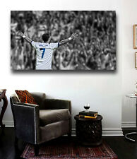 CRISTIANO RONALDO Canvas  Print RARE NEW 24 x 16 Faded Crowd