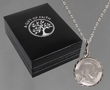 St Christopher Sterling Silver Necklace Religious Gift Her Him Children