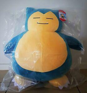 "Pokemon Shiny Snorlax 24"" inch 61 cm Plush Large G1 Pikachu Official GENUINE NEW"