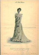 Publicité ancienne la mode pratique toilette du soir  No 26 1899
