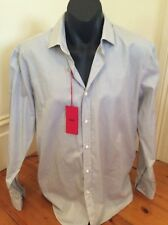 Brand New, With Tags, Hugo Boss Men's Long Sleeve Striped Shirt Size 16.5 Or 42