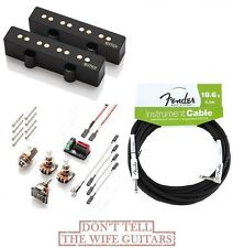 EMG JV52 HZ Set Black J Jazz Bass Passive Pickups ( FREE  FENDER 18FT CABLE )