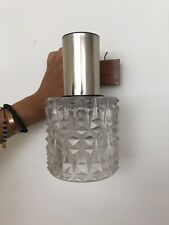 Retro French Vintage 1970s Glass Chrome Wall Light Lampshade Interior design