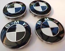 4x BMW Nabendeckel Radnaben Abdeckung Schwarz/Weiß 68mm 6783536 NEU