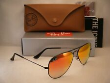 Ray Ban 3025 Aviator Black w Red Gradient Mirror Lens (RB3025 002/4W 58mm size)